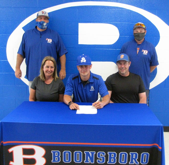 Boonsboro's Dylan Miller signs to play baseball at St. Andrews.