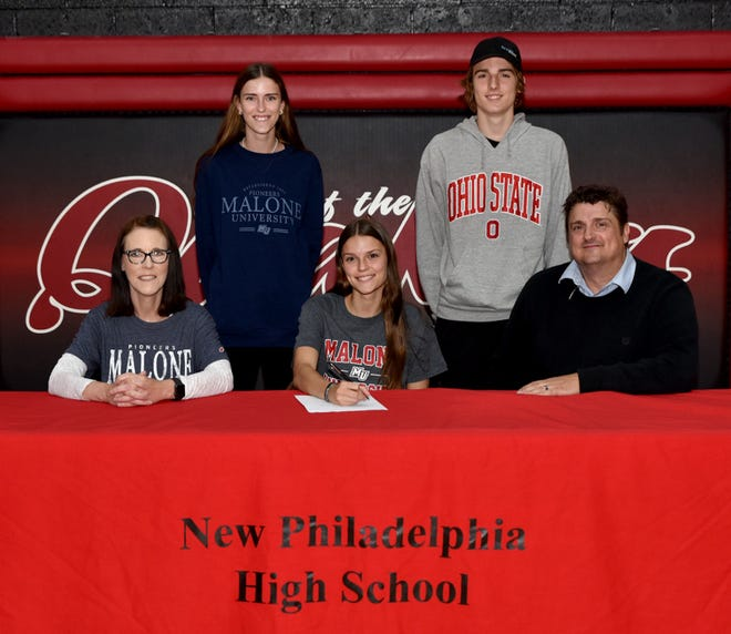 New Philadelphia senior Rebekah Stoneman will be running cross country and track and field at Malone University in the fall where she will study Exercise Science.