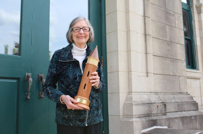 Indiana Landmarks presented Gayle Cook with the Williamson Prize for her decades of preservation leadership.
