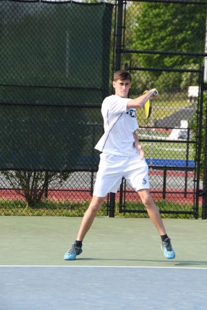 Ipswich's Jack Kiely, a senior, started the season 5-0 for the unbeaten Eagles as the veteran half of the Prep's No. 1 doubles pairing.
