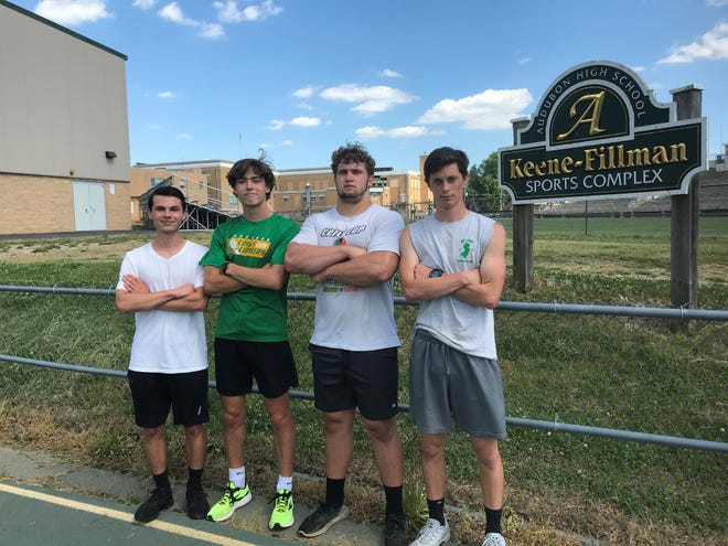 Audubon seniors (left to right) Tyler Wilson, Zach Williams, Jeff Jordan and Aden Tomeo have delivered plenty of production this spring. Now, they are trying to lead the Green Wave to their first sectional title since 1974.