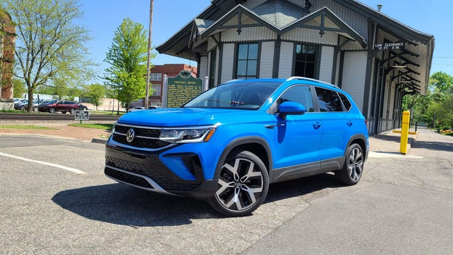 The 2022 VW Taos is a subcompact SUV with size. Starting at $24,190, it replaces the VW Golf in the brand's lineup to compete against SUVs like the Jeep Compass and Subaru Crosstrek.