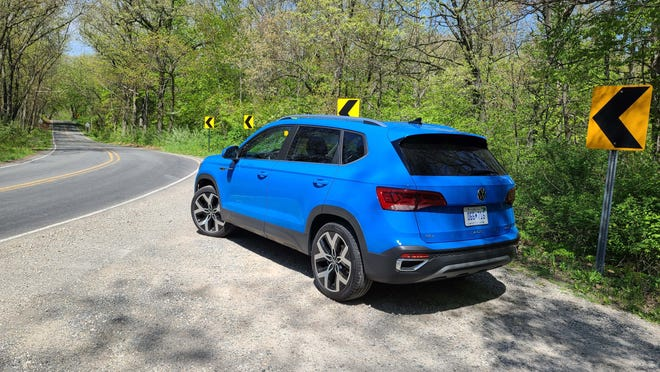 Detroit News critic Henry Payne took the 2022 VW Taos through Hell, Michigan's twisty roads - but no one will confuse the big subcompact SUV with a nimble Golf.