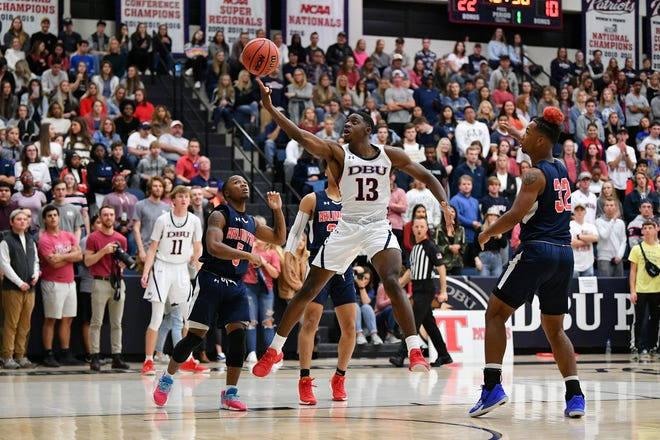 Dallas Baptist Division II All-American Chandler Jacobs (13) has transferred to Colorado State.