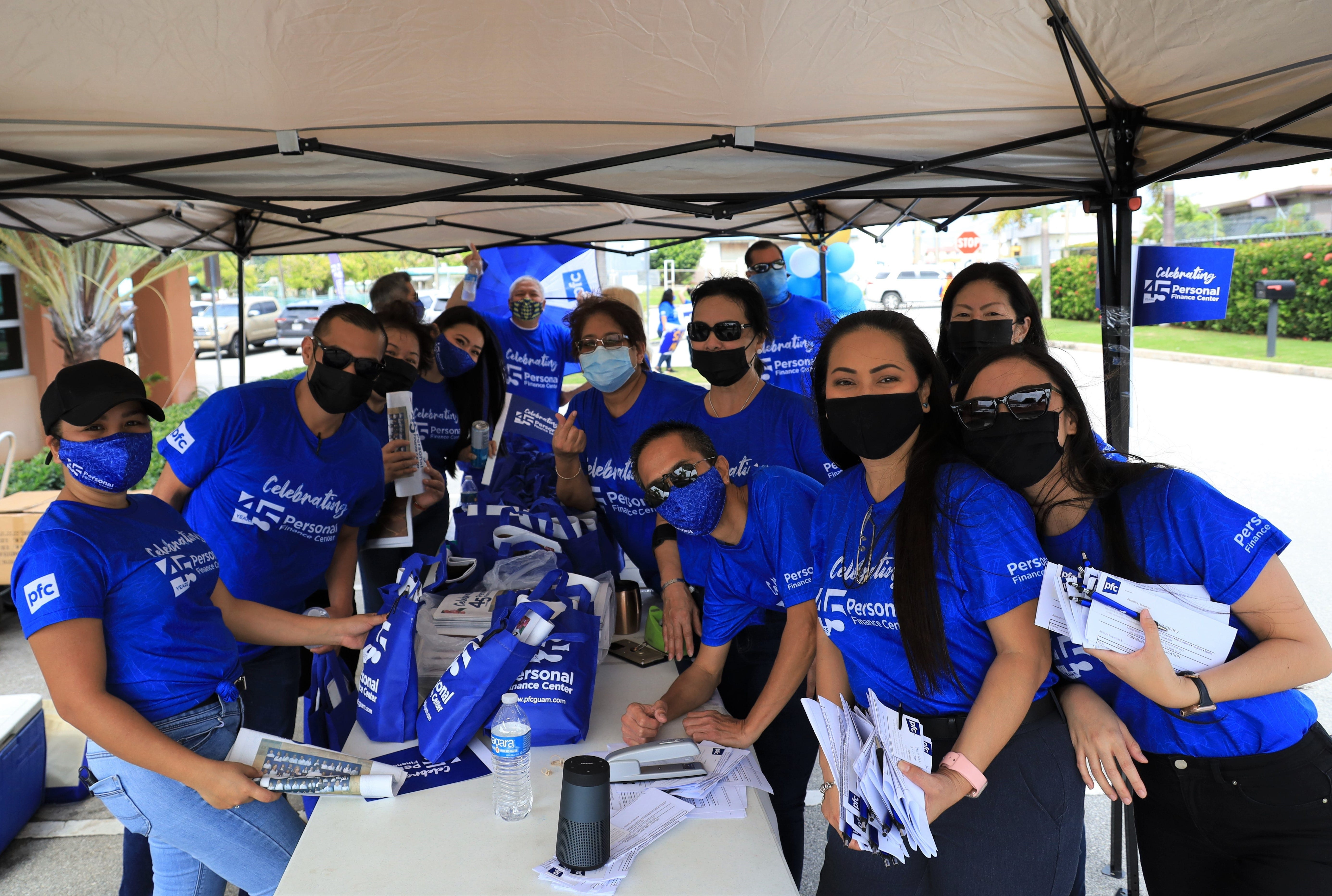 Employees of Personal Finance Center in Tamuning celebrated the company's 45th anniversary on Thursday, May 29, 2021.
