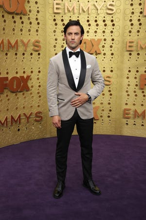 Milo Ventimiglia, seen here at the 2019 Emmy Awards, will wave the green flag at Sunday's Indianapolis 500.