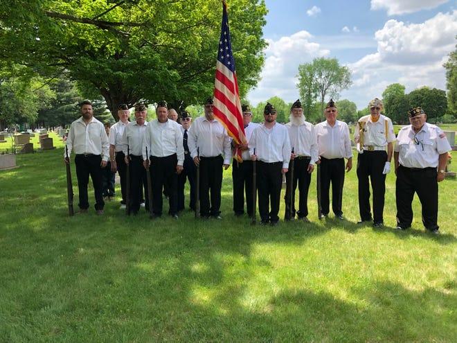 Members of American Legion Post 605 of Waldo recently held ceremonies at 10 local cemeteries to honor veterans.