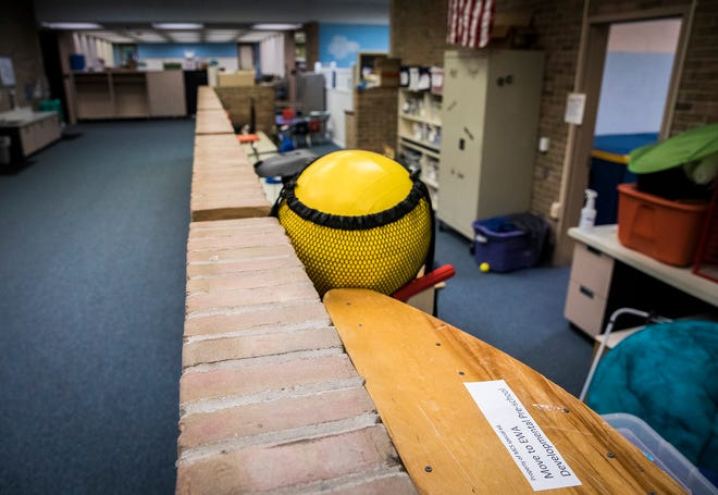 Renovations, including replacing temporary partitions with doors and walls, are being planned for East Washington Academy.