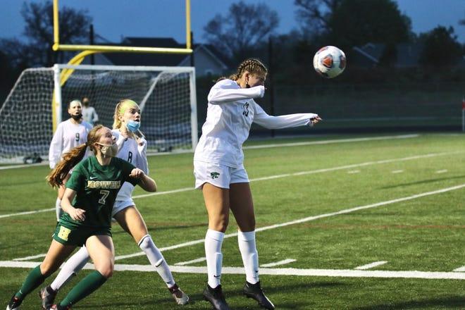 Junior Samantha Maday has been one of Novi girls soccer's main veterans in 2021.