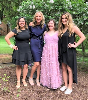 Pictured (from left) are Stacy Sutter Katikos, Kelsey Mikiciuk, Cecilia Richard and Sabrina Palumbo.