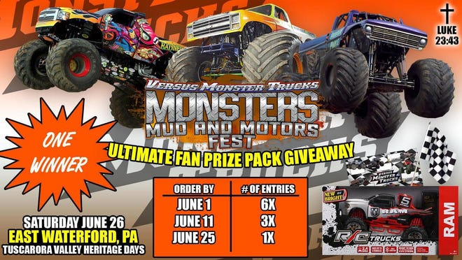 The monster truck event is also going to have car show and kids' activities.