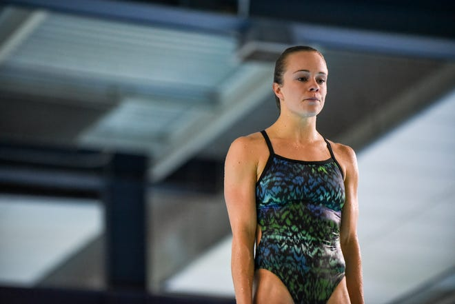 Nevada graduate Krysta Palmer will compete in the Olympic Diving trials in June in Indianapolis.