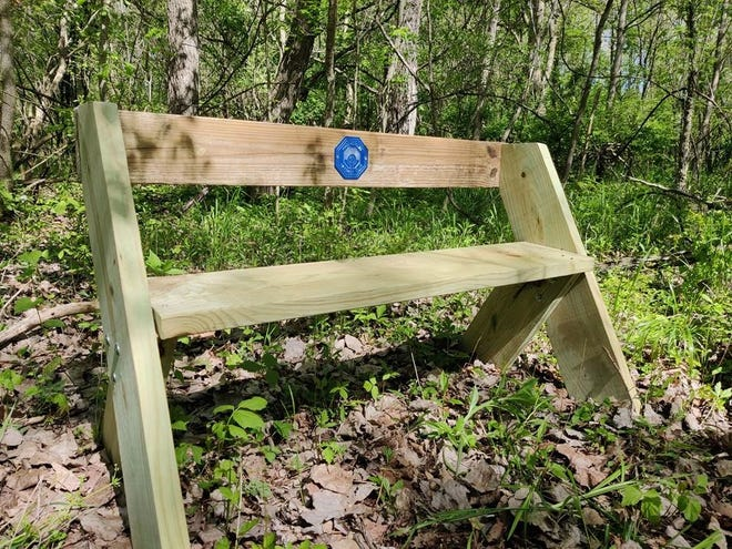 Benches now make wildlife observation areas more comfortable at the Steve Swoveland Nature Preserve in Hagerstown.