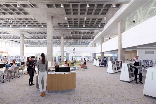 A rendering of the renovations to the Salem Public Library.