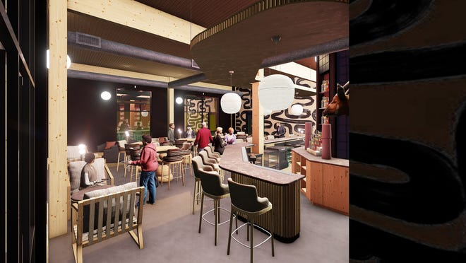 Rendering of The Highball Bar, which will be located at Railyard Flats.