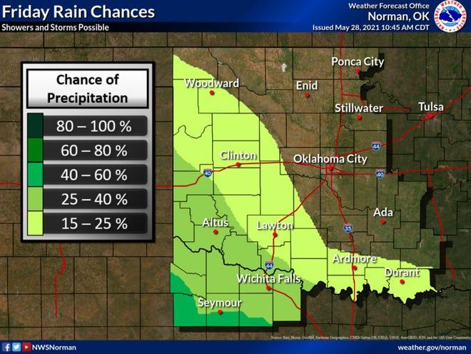 Rain chances will continue in the region through Thursday