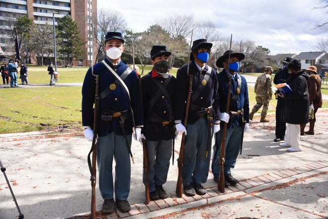 The 102nd U.S. Colored Troops Company C reenactment group is made up of high school students who want to honor the soldiers who helped save the United States.