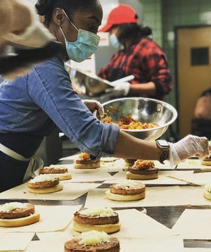Food Rescue Detroit partnered with local restaurants to provide Beyond Meat burger patties to those in need.