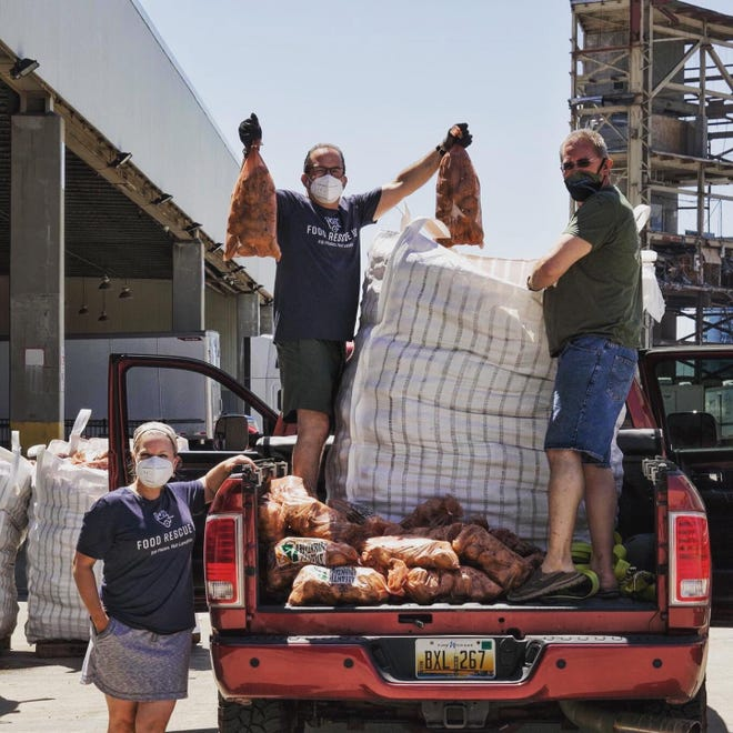 In partnership with the Farm Link Project, Food Rescue Detroit distributes 42,000 pounds of potatoes to agencies feeding people throughout the metro area.