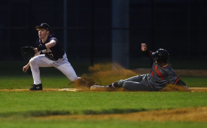 Senior outfielder and first baseman Eliot Jurgensen was one of three Ames baseball players named to the all-CIML Iowa second team in 2021.