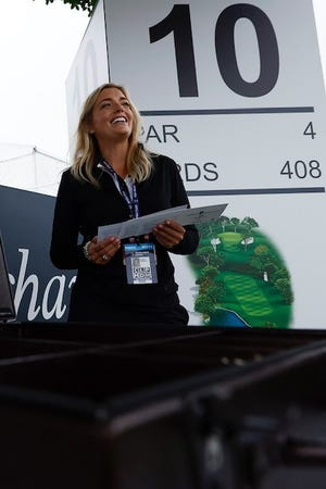 Leslie Grabeman has followed a path from amateur golfer to Muirfield Village Golf Club intern to becoming the first PGA Tour female scoring official.