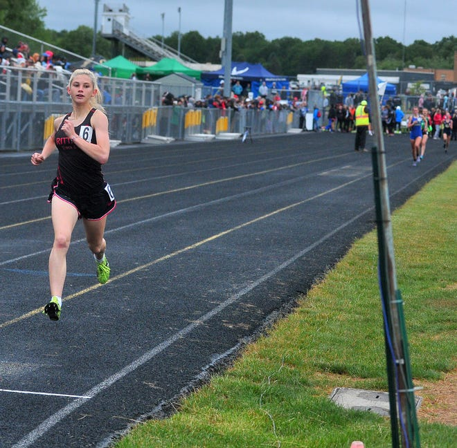 Rittman's Pyper Gibson is a major contender in the girls 1,600 and 3,200 this weekend at the Div. III state meet.