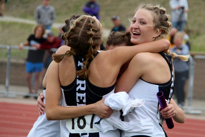 Athletes from Benson County, Devils Lake, Langdon/Edmore/Munich, Nelson County, New Rockford/Sheyenne and North Star competed in the second day of the NDHSAA State track and field meet on May 29 at the Bismarck Community Bowl.
