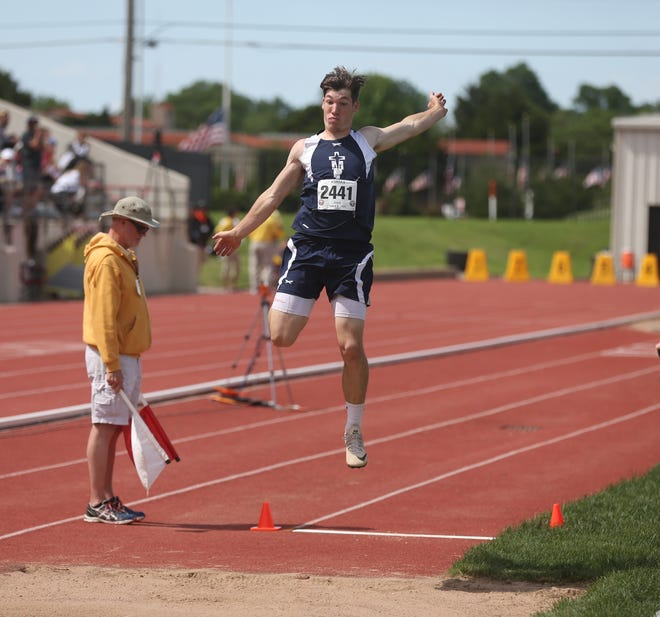 TMP's Jace Wentling won the 3A long jump with a 23 feet, 5 1/2 inches.