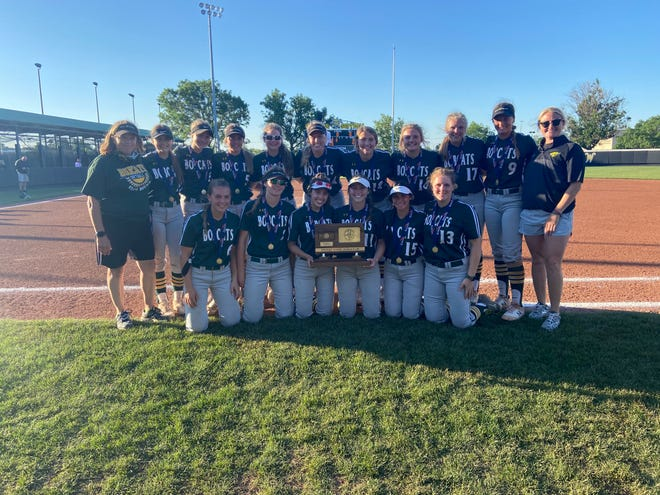Shown is the Basehor-Linwood softball team following its runner-up finish in the Class 5A tournament. The Bobcats fell to undefeated Bishop Carroll 4-3 Friday at Wilkins Stadium in Wichita to cap a 21-4 season.