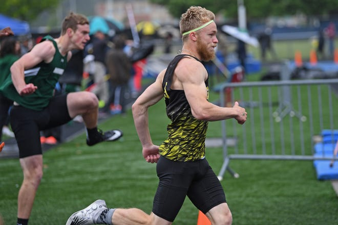 Garfield's Ryan Stoller, shown in an earlier competition, finished sixth in the Division II 110-meter hurdles at the state meet on Saturday.