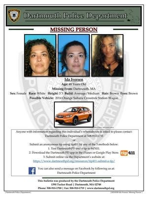 Dartmouth police report missing person.