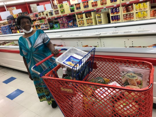 """Longtime Cocoa resident Virgie Prude says the reopening of the Save a Lot store in her neighborhood is """"A blessing,"""" especially for those who have to walk or cycle to the store."""