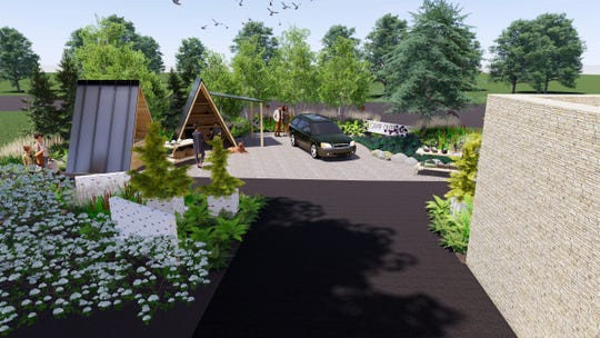 Subaru of America's exhibit at the 10-day Philadelphia Flower Show is a campsite exhibit at Franklin D. Rooseveet Park in South Philadelphia opening June 5.