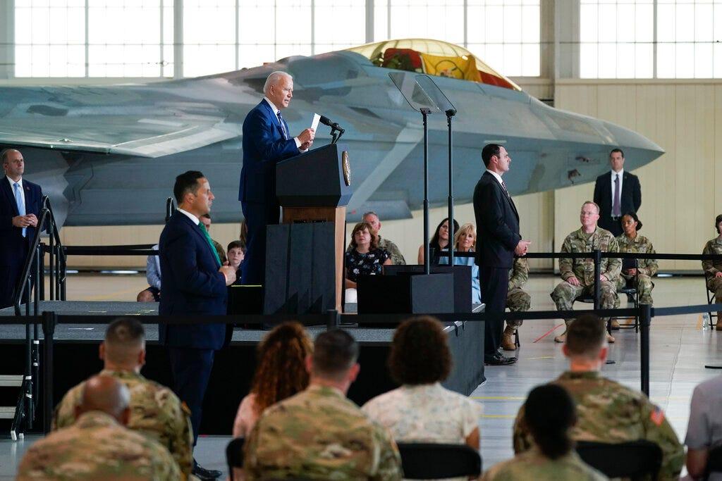 Biden marks vaccine progress, thanks troops ahead of holiday 2