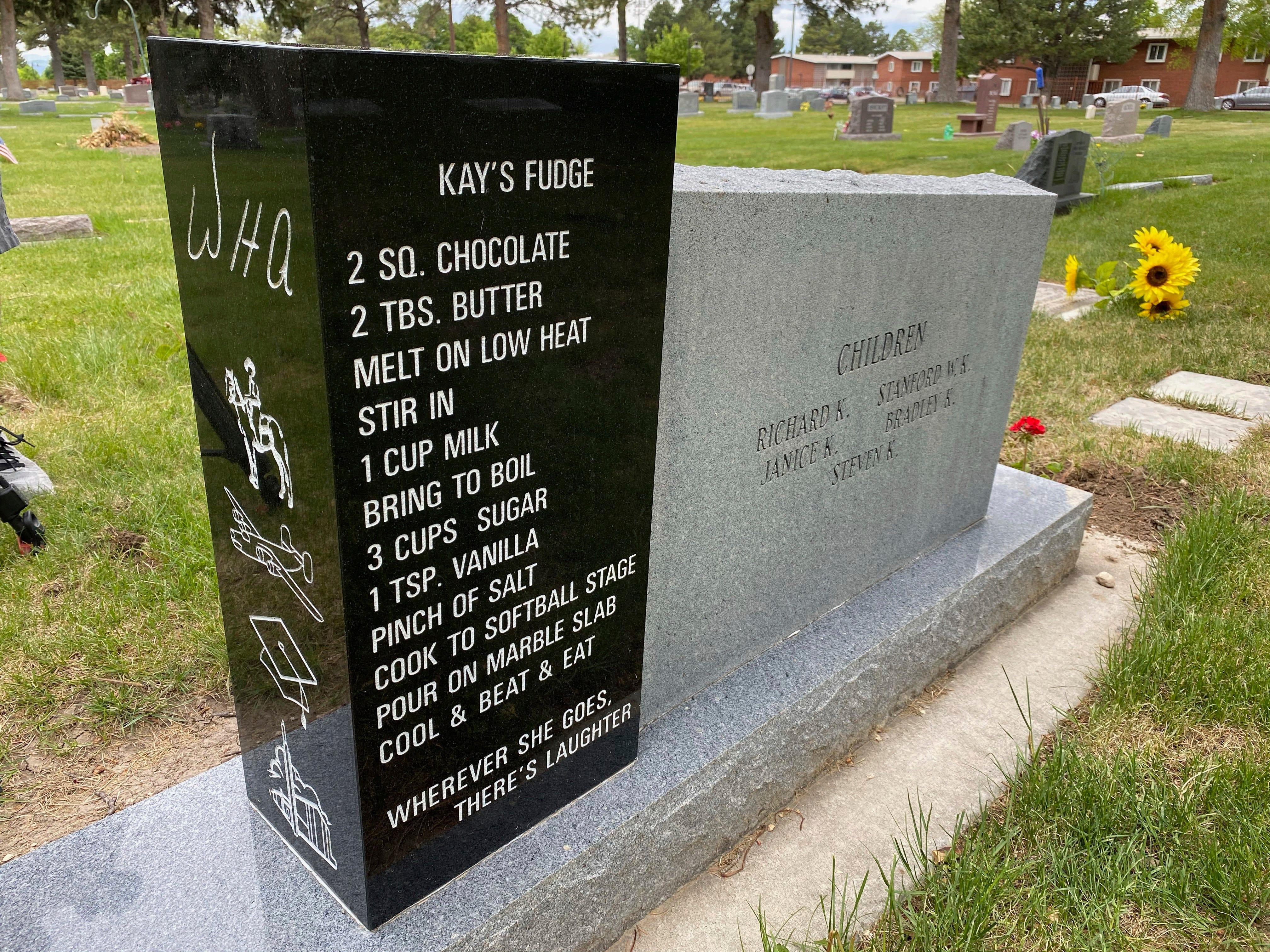 Family shares story behind fudge recipe on Utah headstone 2