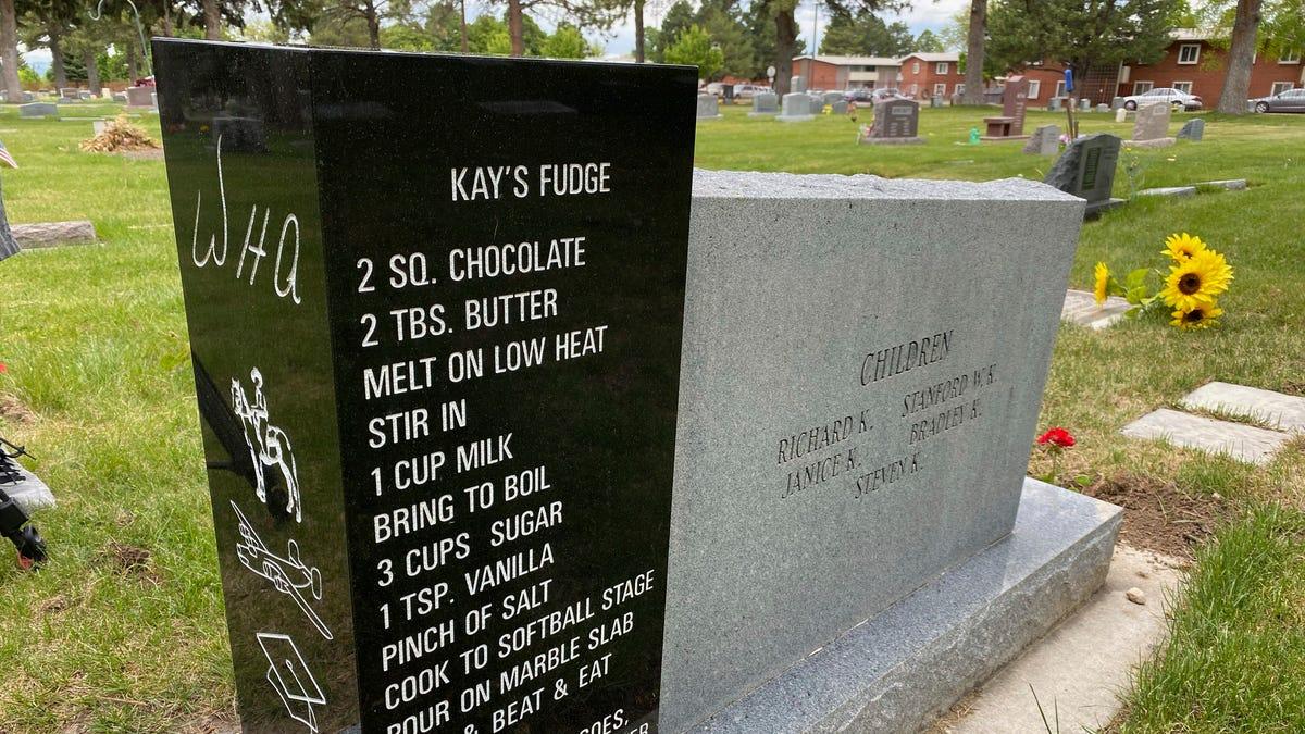 Family shares story behind fudge recipe on Utah headstone 3