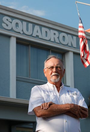 Ted Dawson was named FWC's Boating Educator of the Year. He is photographed here at the Cape Coral Sail and Power Squadron building.