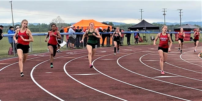 Liberty Union senior Jayden Roach placed first in the 400 (59.97) during the Division III regional meet Friday night at Southeastern High School to punch her ticket to next week's state meet.