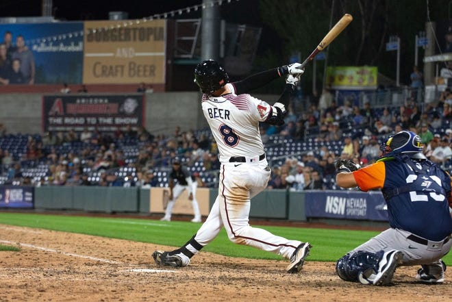 The Aces' Seth Beer has been among the hitting leaders for both Reno and all of Triple-A West