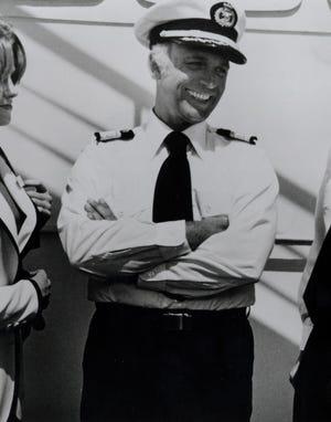 "Gavin McLeod as Captain Meryl Stubbing ""The Love Boat."""