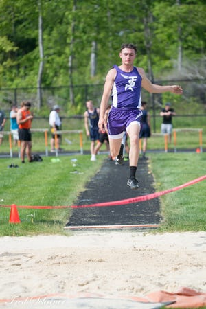 Sebring's Anthony Calderone competes at the Mahoning Valley Athletic Conference track & field championships.