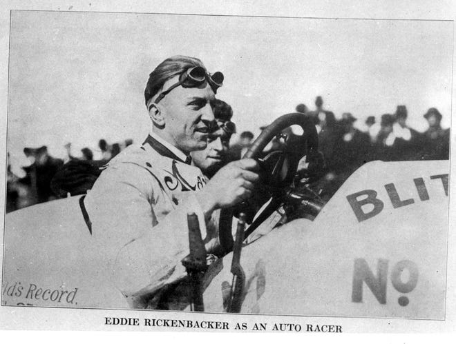 Columbus native Eddie Rickenbacker competed in the first Indy 500 in 1911, then in World War I shot downmore enemy aircraft than any otherAmericanfighter pilot.