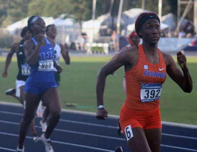 Florida's Talitha Diggs finished in second place in the 400-meter run at the NCAA track and field meet Saturday in Eugene, Oregon. [File]