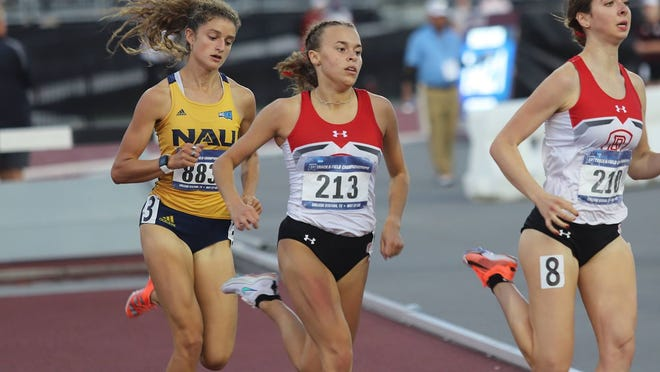 Bradley freshman Wilma Nielsen competes in the 800-meter run at the NCAA West Preliminary this weekend in College Station, Texas.