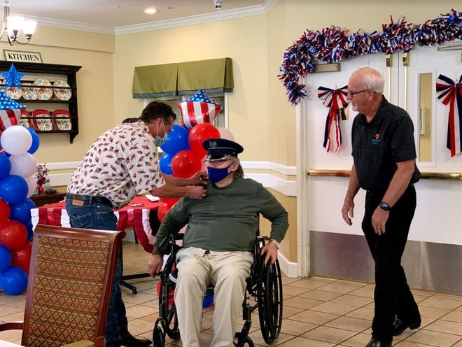Dale Johnson was among veterans honored during a Memorial Day weekend pinning service Friday at Bridge Hospice in Lubbock.