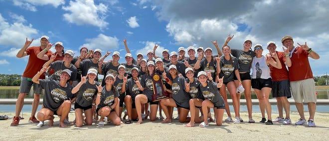 Texas wins the NCAA 2021 DI National Championship at Nathan Benderson Park in Sarasota, Sunday afternoon May 30, 2021.