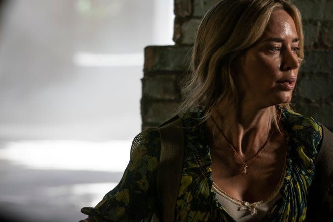 """This image released by Paramount Pictures shows Emily Blunt in a scene from """"A Quiet Place Part II."""""""