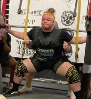 Leah Reichman's lift of 880 pounds was in the equipped category's 90-plus kilogram class.