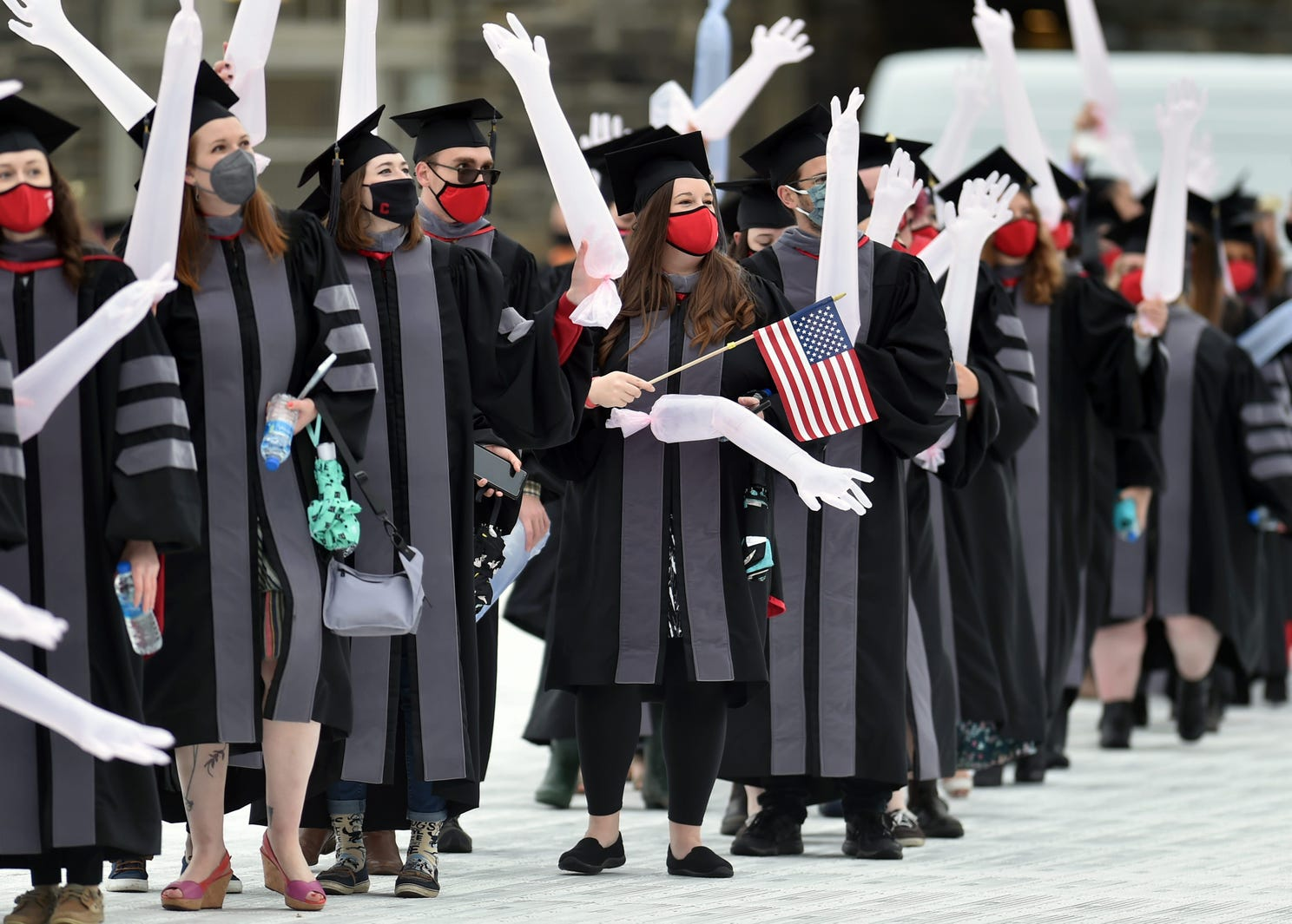 Graduates of the class of 2021 from Cornell University