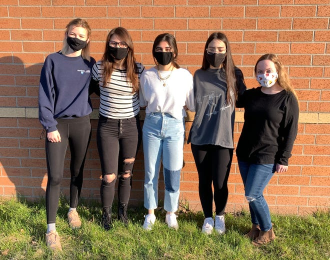 From left to right: Anke Wiersma, Ella Weber, Zara Baig, Ava Lopez and Ainsley Boucher placed 13th at the Minnesota state Envirothon competition this spring.